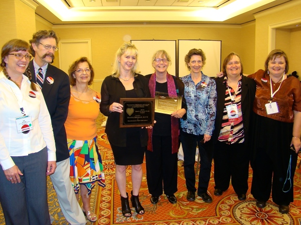 2014 Award Recipients Illana Perlman and Emmie Homonoff and the NANFED board