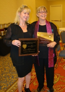 Illana Perlman and Emeline Homonoff, receipients of the 2014 Heart of Social Work and Dean Schneck Memorial awards