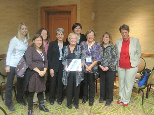 Dean Schneck Memorial Award recipient Jo Ann McFall with colleagues from the North Center Field Directors' Consortium